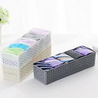Plastic 5 Cells Organizer Storage Tie Bra Socks Drawer Cosmetic Divider Box
