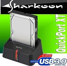 NEU SHARKOON QuickPort XT - USB3.0 - FESTPLATTEN Docking Station BLACK