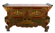 Console Chepu Kirtimukha Meuble tibétain en bois peint -Tibet - Nepal- 9960