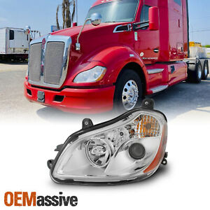 Fit Kenworth T680 13-19 OE Chrome Housing Projector Headlights Driver Left Side