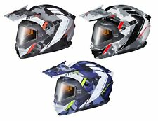Scorpion EXO-AT950 Cold Weather Outrigger Dual Lense Helmet Matte Gray All Sizes