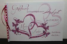 Gästebuch zur Hochzeit , rosa pink fuchsia