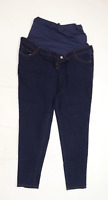 Womens Blooming Marvellous Blue Maternity Cotton Blend Jeggings Size 20/L29