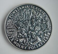 POLAND WWI 1919 1920 SILESIAN UPRISING AGAINST GERMANY MEDAL silvered