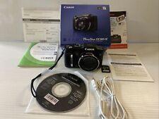 Canon PowerShot SX160 IS 16.0MP Digital Camera  Black W/ 16 GB Memory TESTED