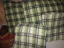 TARGET HOME GREEN BLACK PLAID FLANNEL (4PC) QUEEN SHEET SET
