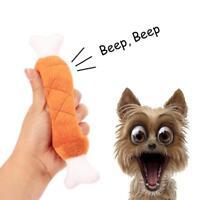 Pet Bones Plush Sound Chew Throw Toys Dog Puppy Squeaky Interactive Toy Play