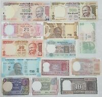 """""""SET OF 13"""" ALL DIFFERENT INDIAN BANK NOTE IN UNC...RARE............."""