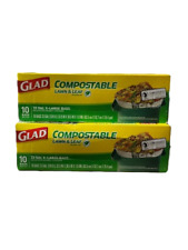 Glad Compostable Lawn and Leaf X-Large Trash Bags, 33 Gallon, 10 Count Pk of 2