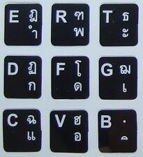 Thailand Keyboard Thai Schrift Tastatur Aufkleber schwarz