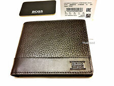 "Brand New Designer Hugo Boss ""Aspen_Trifold"" Wallet 50322175 Brown"