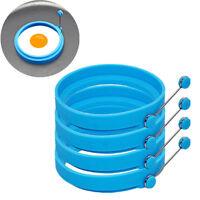 4pcs Omelette Maker Mold Round Shape Silicone Nonstick Frying Egg Ring Pancake