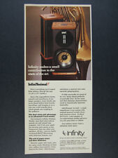 1979 Infinity InfiniTesimal Speakers photo vintage print Ad