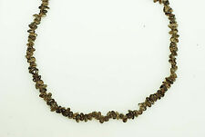 "5x8mm Smooth Smoky Quartz Chip Beads, 18"" long"
