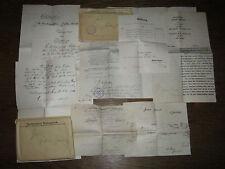 8 vecchi documenti Heilbronn Neckargartach 1912-1914 Consiglio comunale colpa fittizio