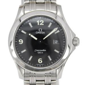OMEGA Seamaster120 2511.53 Date SS black Dial Quartz Men's Watch K#98196