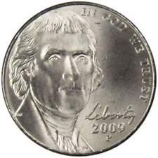 From OBW Rolls Low Mint of 46.8 Mil  10/% off 5+ 2009 D BU Jefferson Nickel