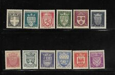 France Scott #B135-#B146 mint never hinged 1942 Arms of Various Cities set og vf
