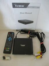 iVIEW 3100STB digital tv converter box, remote, batteries, manual, cables
