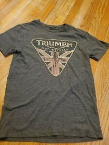 Triumph Motorcycles, Lucky Brand Shirt Men's Size Small * short sleeve* vintage