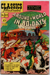 Classics Illustrated  #69 1st EDITION - Around The World In 80 Days  GD/VG 3.0