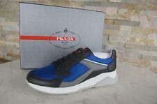 PRADA Gr 42,5 8,5 Zapatillas Zapatos De Cordones zapatos antracita + mare NUEVO