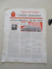 1951 Cadillac Preliminary Service information Cadillac Serviceman Bulletin