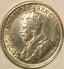 1919 CANADA SILVER 5 CENTS COIN - Uncirculated details