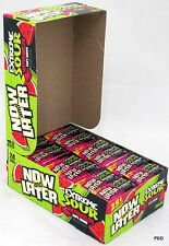 Now and Later Extreme Sour Watermelon Soft Candy Chews 24 ct box 6 pc bars Bulk