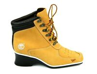 TIMBERLAND PREMIUM ANKLE BOOTS 19345 WEDGE WHEAT WOMEN'S SIZE 6 M PRE-OWNED!!