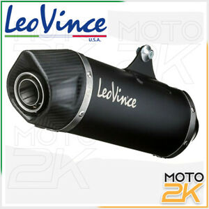 SILENZIATORE MARMITTA NERO LEOVINCE SBK SLIP-ON YAMAHA T-MAX 530 2012 - 2015