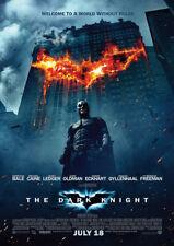 THE DARK KNIGHT 2008 Christian Bale – Movie Cinema Poster Art Print