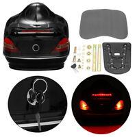 Motorcycle Modified Rear Top Box Tool Helmet Bag + Light for Suzuki Honda Yamaha