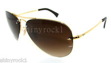 Authentic RAY-BAN Gold Aviator Sunglasses RB 3449 - 001/13 *NEW*  59mm