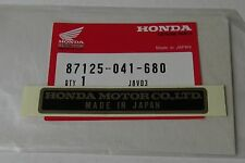 HONDA Original NAME PLATE LABEL STICKER Z50A TL125 XR75 QA50 ATC70 XL100 XL70