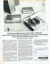 Publicité Advertising 038  1970   Philips   chaine hi-fi diamant AM FM stéréo