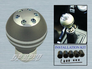 NICKEL FINISH M/T SHIFT KNOB FOR FIT INSIGHT PASSPORT PRELUDE S2000