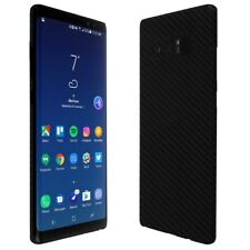 Skinomi Black Carbon Fiber Skin+Clear Screen Protector For Samsung Galaxy Note 8