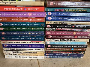Vintage Nero Wolfe Rex Stout Mystery Paperback books Lot Of 30! Estate Items