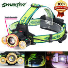 Zoomable 30000LM 3X XM-L T6 LED Rechargeable 18650 Headlamp Headlight Head Light