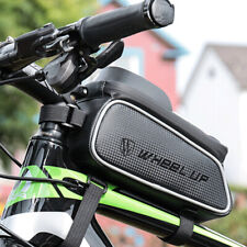 Waterproof Cycling Bicycle Front Tube Frame Bag Phone Holder Pouch Bike Black