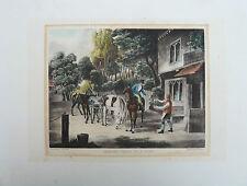 JONES FELLOWS / AUTHENTIQUE GRAVURE ANGLAISE XIXè VENERIE CHASSE A COURRE
