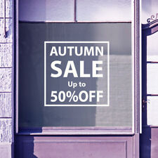 Autumn Sale Time (any %) Vinyls Shop Window Display Wall Decals Stickers B24