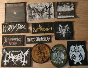 Patches Mayhem Darkthrone Bathory Immortal Black Death Metal Various Set Punk