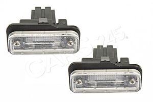 Genuine License Plate Lights PAIR MERCEDES W211 CLS W219 C219 SLK R171 2001-2011