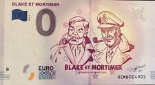 BILLET 0 EURO SOUVENIR TOURISTIQUE BLAKE ET MORTIMER 2018
