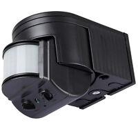 1 Détecteur de mouvements Noir 180° Extérieur IR LED max.12m 1-1000Watt