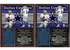Tony Romo Dallas Cowboys 2003-2016 Photo Plaque America's Team