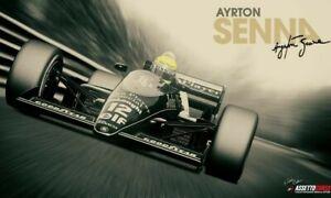 B115 Ayrton Senna F1 Formula Grand Prix Hot New Custom 24x36 27x40 Fabric Poster