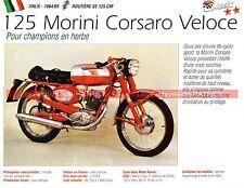 MORINI 125 Corsaro Veloce 1964-1969 Cyclo Fiche Moto 000210